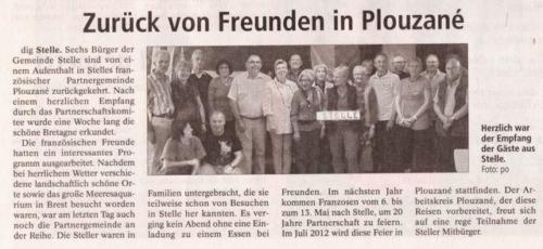 Fahrt nach Plouzané im September 2010 - Winsener Anzeiger