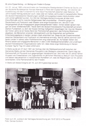 50 Jahre Elysee Vertrag